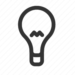 electric, idea, lamp, light, lightbulb, smart, wise icon