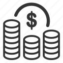benefit, cash, cost, finance, fund, money, profit icon