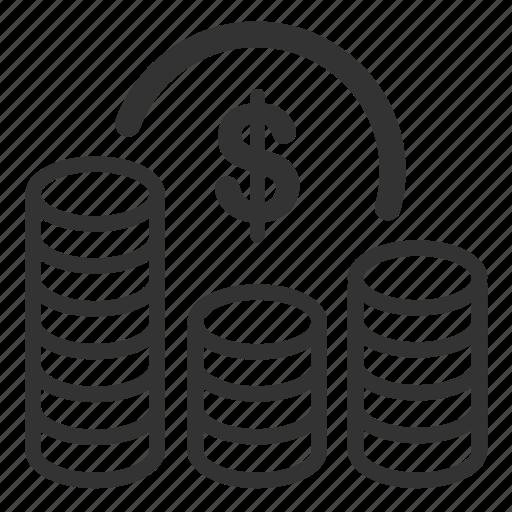 benefit, cash, cost, finance, fund, money, profit icon