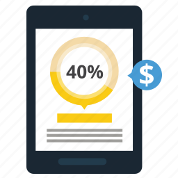 business, diagram, discount, money, price, statistics, store icon