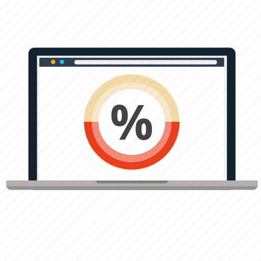 business, discount, laptop, online, price, statistics, store icon