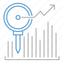 analytics, investment, monitor, report icon