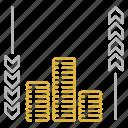 cash, flow, investment, money icon