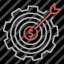 goal, making, money, seo, target icon