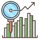 analytics, business, chart, investments icon