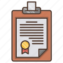 business, contract, document, investments icon
