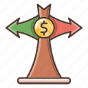 business, decision, investments, money icon
