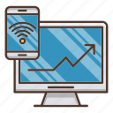 business, control, distant, investments, signal, wifi icon