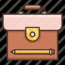briefcase, financial, job, management icon
