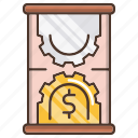 business, efficiency, investments, time icon