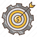 business, investments, making, money icon