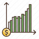 business, chart, investment, investments, return icon