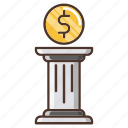business, currency, dollar, investments, stability icon