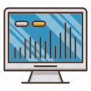 business, chart, investments, market, monitor, stock icon