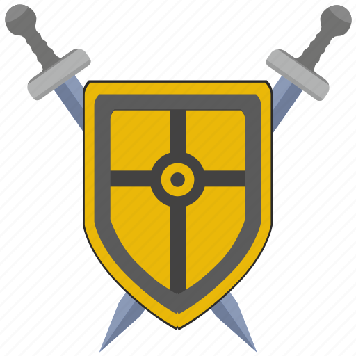 blade, cross, roman, rome, safety, shield, weapon icon