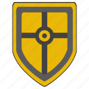 cross, religion, roman, rome, shield, weapon icon