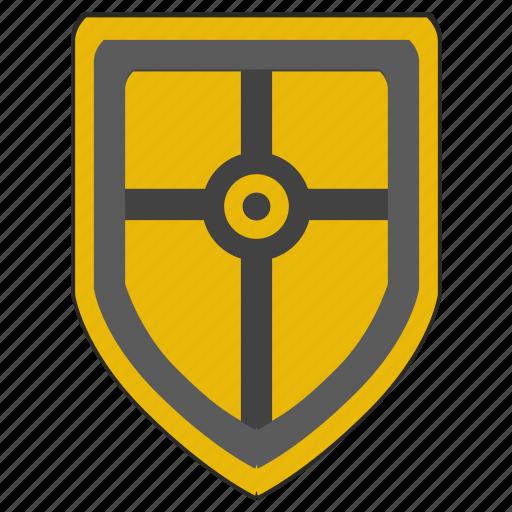 cross, religion, roman, rome, shield, weapon icon