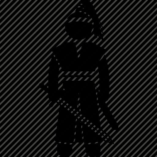 Fighter, hwarang, korea, korean, ronin, swordsman, warrior icon - Download on Iconfinder