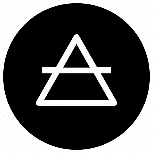 half, symbols, triangle icon