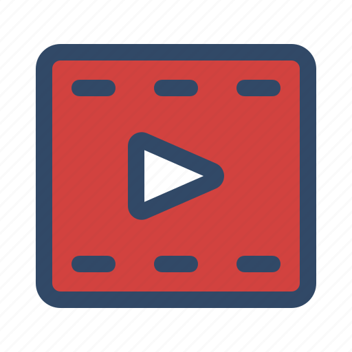android, app, device, interface, video icon