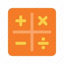 android, app, calculator, device, interface icon