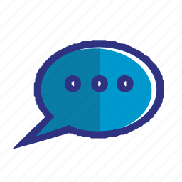 blue, chat, comment, communication, message, mobile, talk icon