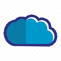 blue, cloud, data, upload, weather icon