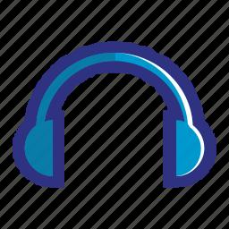 audio, blue, earphone, earphones, headphone, listen, music icon
