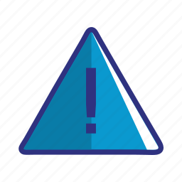 alert, blue, caution, danger, error, problem, warning icon