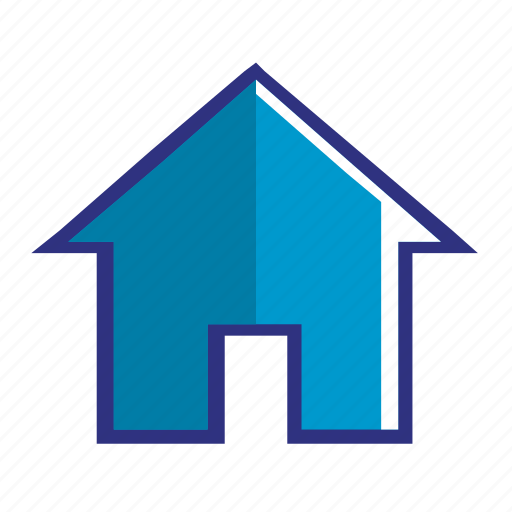 apartment, blue, building, construction, home, house icon