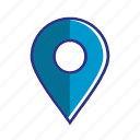 blue, navigation, country, location, marker, pin