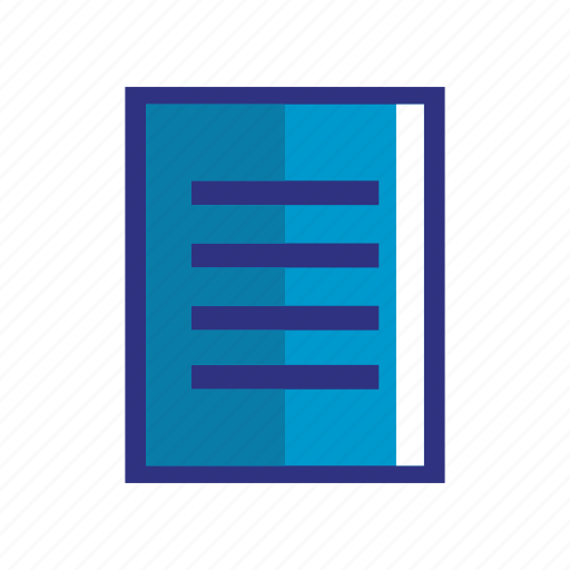 blue, data, files, note, paper, sheet icon
