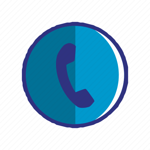 blue, contact, phone, smartphone, talk, telephone icon