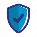 blue, check, security, ok, protection, secure, shield