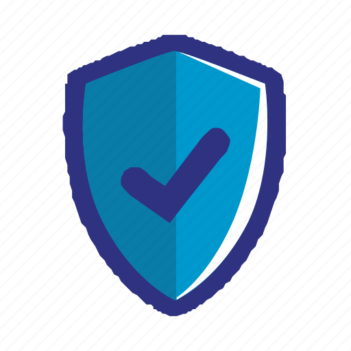 blue, check, ok, protection, secure, security, shield icon