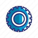blue, control, options, setting, settings, system, tools icon