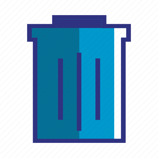 blue, delete, dustbin, garbage, recycle, remove, trash icon