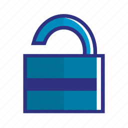 approved, blue, ok, unclock, unsecurity icon