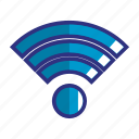 blue, connection, network, signal, signals, wifi, wireless icon