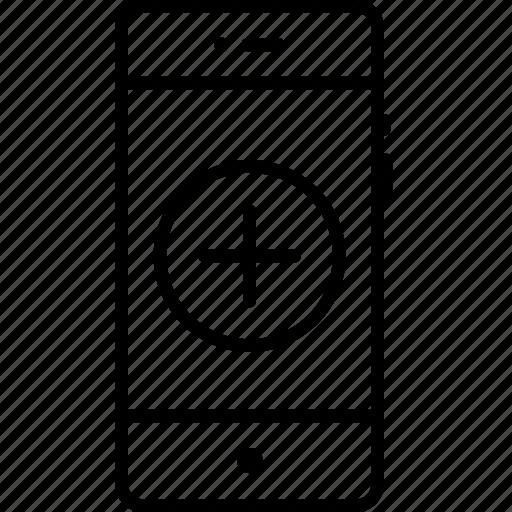 add, append, create, insert, mobile, new, plus icon