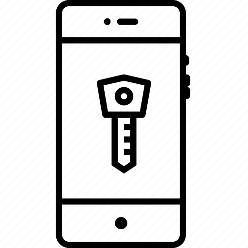 access, key, lock, login, mobile, password, protection icon