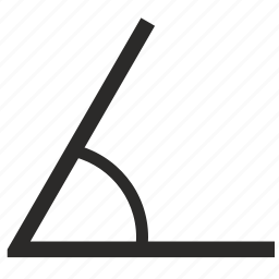 acute, angle, arris, geometry icon