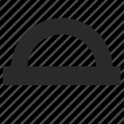 angle, geometry, protractor icon