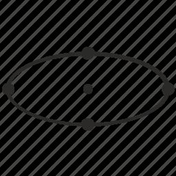 circle, dots, geometry, oval, transform icon