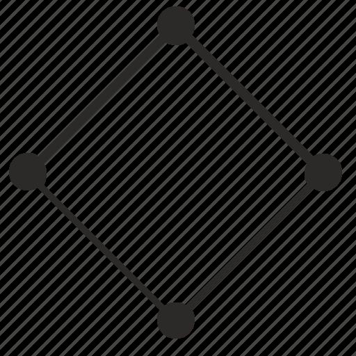 border, curves, dots, geometry, rombus icon
