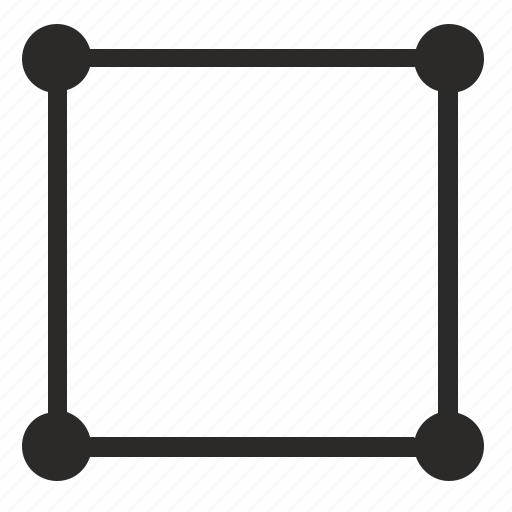 border, curves, dots, form, geometry, square icon