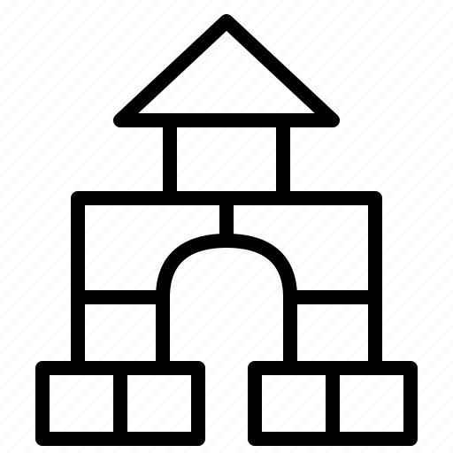 aniacons, baby, block, brick, build, play, toy icon