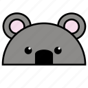 anima, animal, binatang, ikon, koala, rounded, warna icon