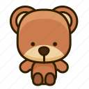 bear, mammal, animal, cute icon