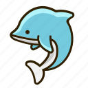 animal, dolphin, fish, ocean icon